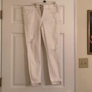 Ripped white Zara jeans